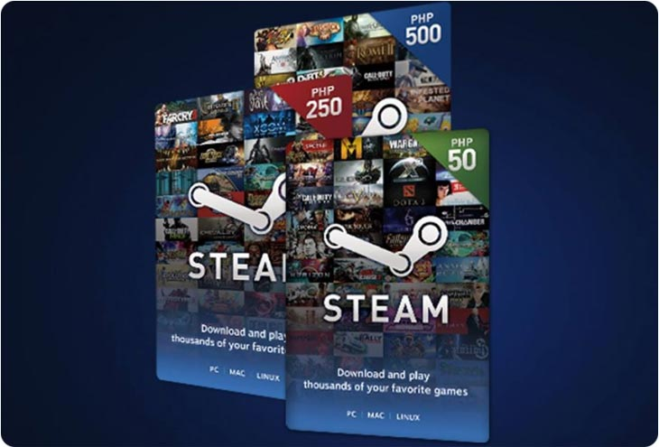 steam wallet codes paypal customer