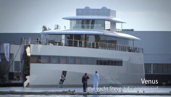Steve Jobs yacht on video, cost unknown