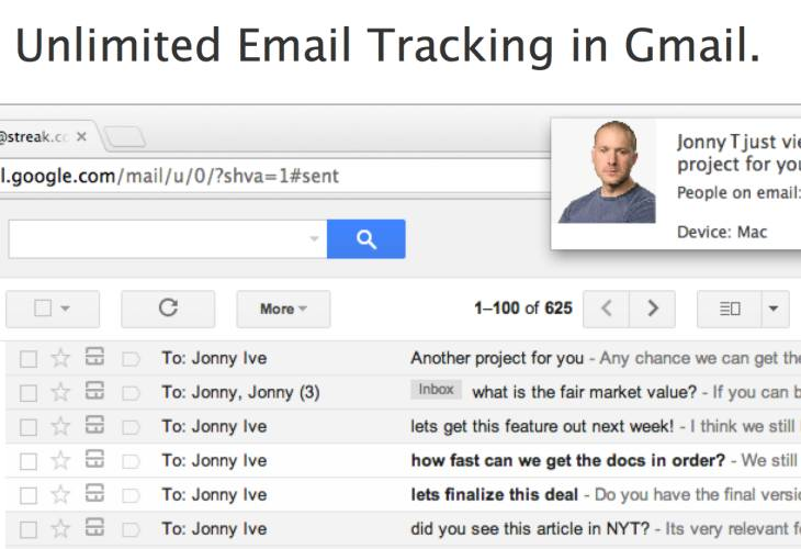 Streak Gmail extension with real-time notifications