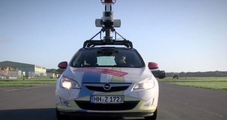 Google Street View Car maps Top Gear track in race