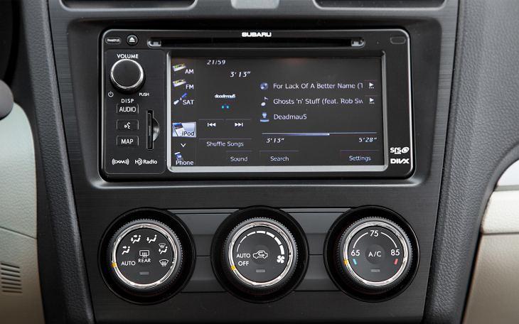 Subaru Impreza sport interior