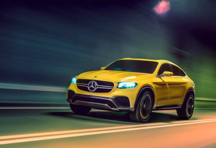 Substantial Mercedes GLC Coupe Concept technical details