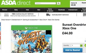 Sunset Overdrive price at ASDA, Tesco and GAME UK