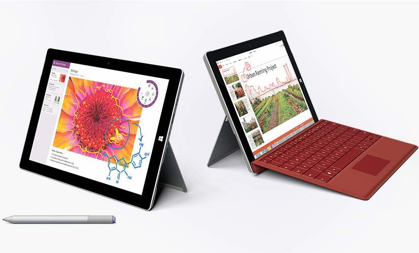 Surface 3 software changes