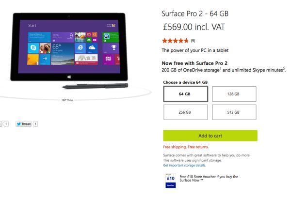 Surface Pro 2 UK price drop