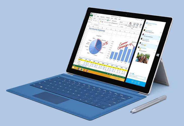 Surface Pro 4 screen size