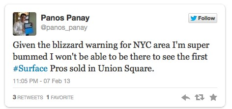 Surface Pro NYC event cancelled