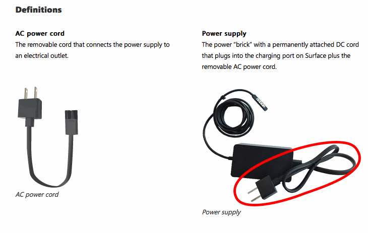 Surface Pro power cord recall