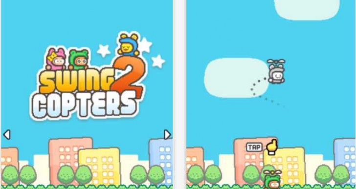 Swing Copters 2 reviews highlight difficulty