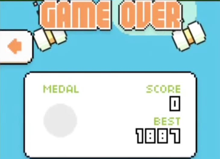 Swing-Copters-highest-score-with-cheat