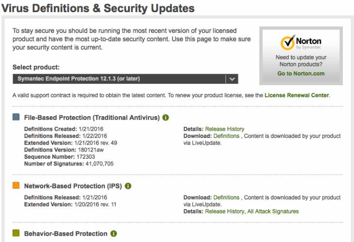 Symantec Endpoint Protection update 12.1.3