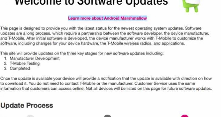 T-Mobile Android 6.0 Marshmallow handset update checker