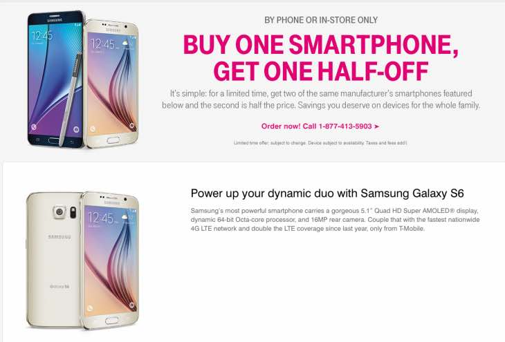 T-Mobile's promotion live today
