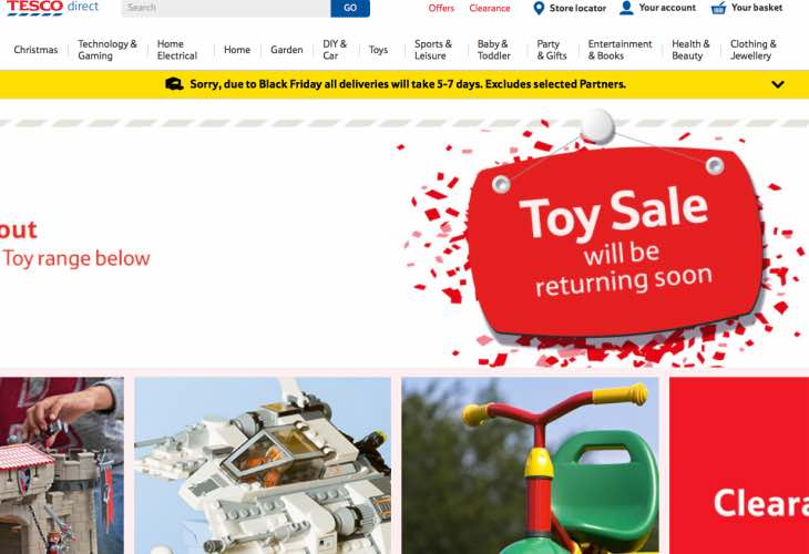 Tesco Toy Sale for December
