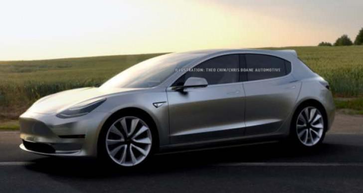 Tesla Model 3 hatchback for larger trunk variant not realistic