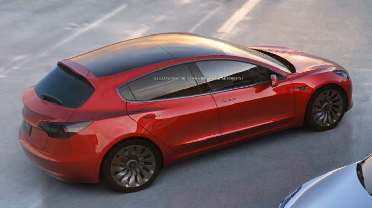 Tesla Model 3 hatchback variant