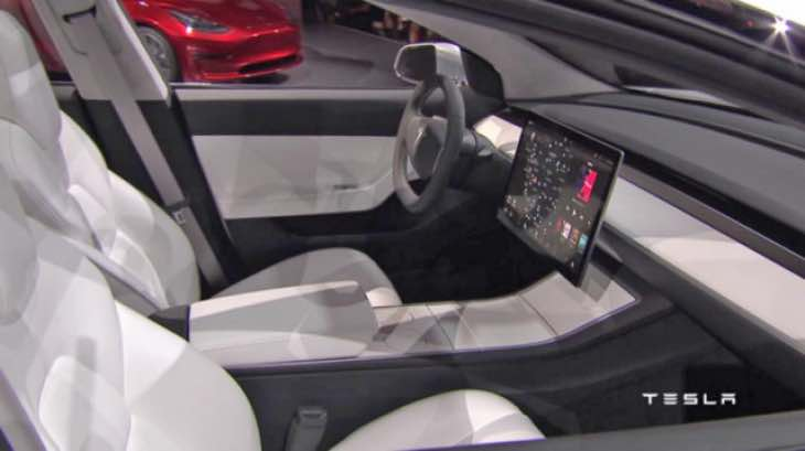 tesla model 3 interior with lg tech product reviews net. Black Bedroom Furniture Sets. Home Design Ideas