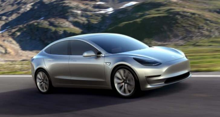 Tesla Model 3 interior with LG tech
