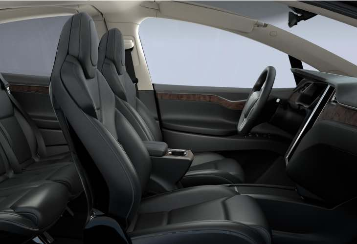 Tesla Model X interior price list