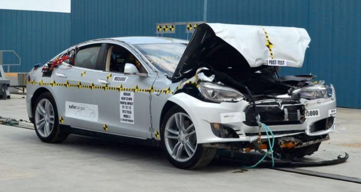Tesla Motors Model S car in rating denial