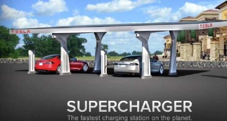 Supercharger concept reserved by Tesla