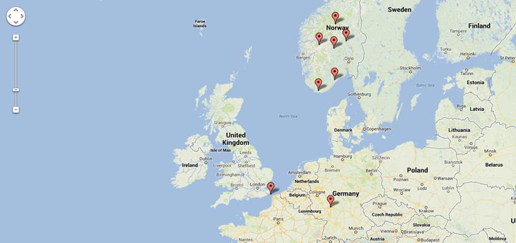Tesla-Superchargers-in-Europe-on-map