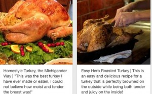 Pinterest for Thanksgiving turkey dinner recipes