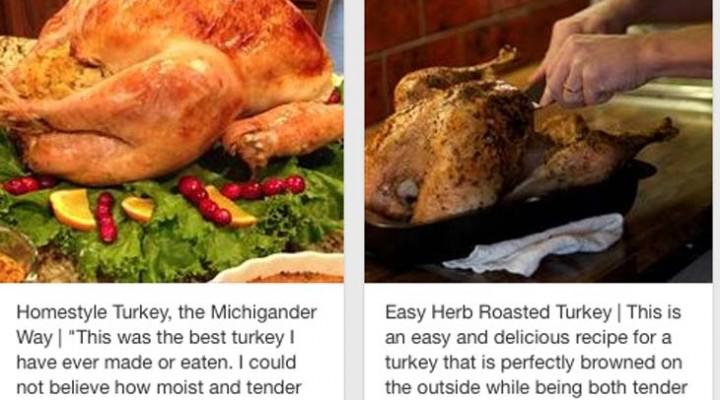Pinterest for Thanksgiving turkey dinner recipes
