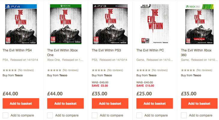 The Evil Within price in UK