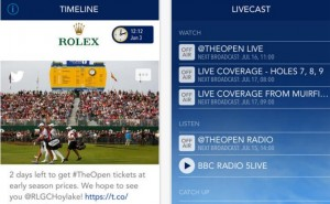 The Golf Open 2014 app for iOS, Android