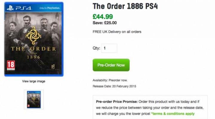 The Order 1886 price at Zavvi beats Tesco, GAME UK