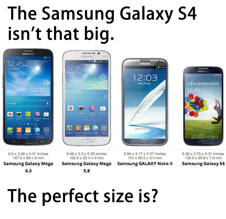 samsung galaxy s4 vs galaxy note 2 the galaxy s4 is bigger than most