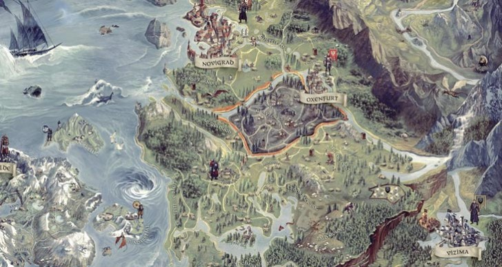 The Witcher 3 map size by city, Vizima to Novigrad