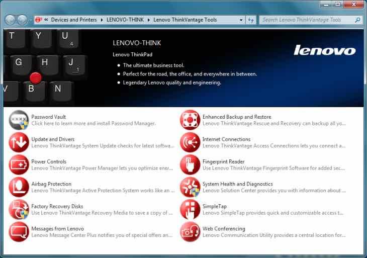 Lenovo ThinkVantage System Update version 5 07 0007