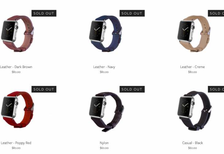 Third-party Apple Watch straps