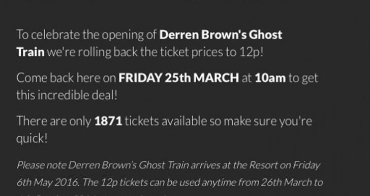 THORPE PARK 12p tickets live today with promo code