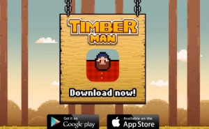 Timberman game doesn't cheat Flappy in the same way