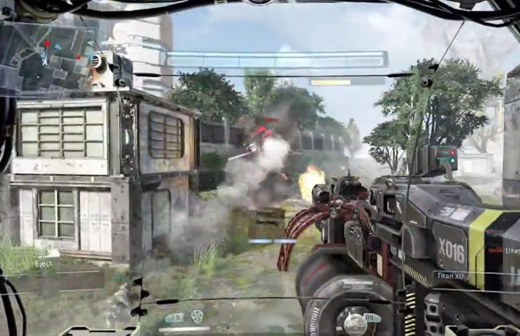 This screenshot is from some Titanfall gameplay at PAX 2013