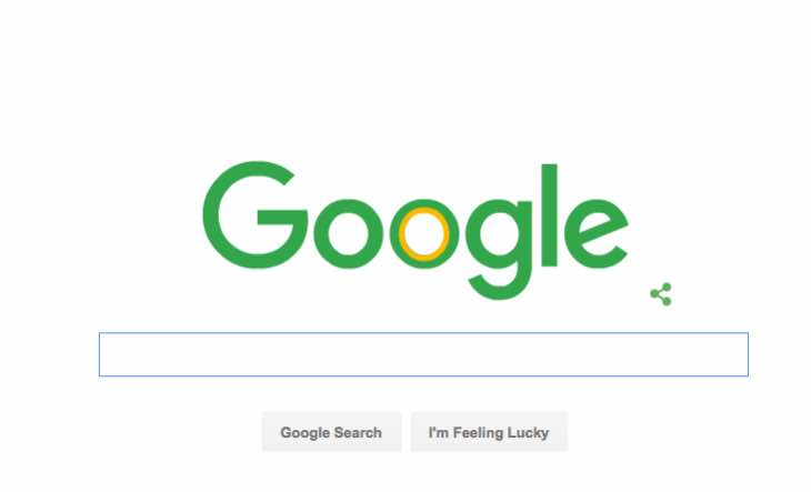 Today's Google Doodle for St Patrick's Day