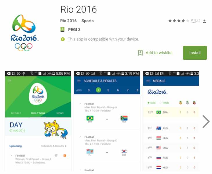 Today's Rio Olympics schedule, medal count