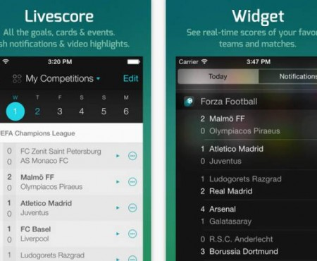 Todays live football scores with one gesture