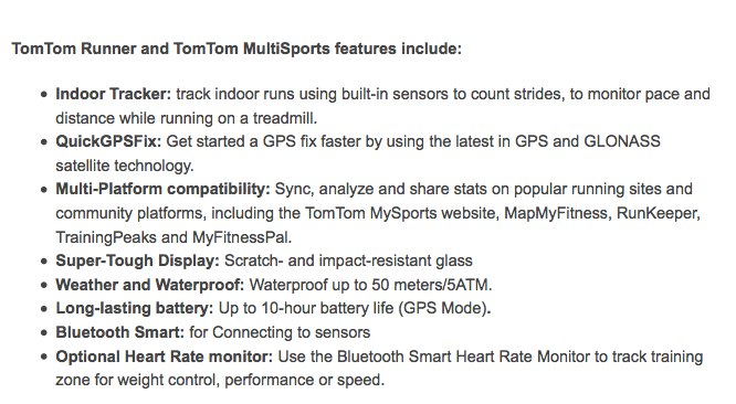 TomTom Runner and Multi-Sport features