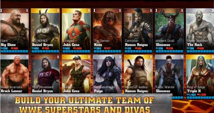 Top WWE Immortals in-app purchases, iOS and Android