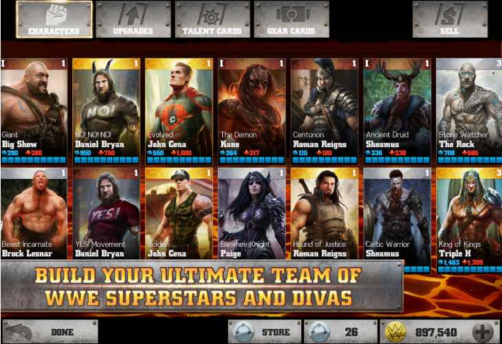 Top WWE Immortals in-app purchases