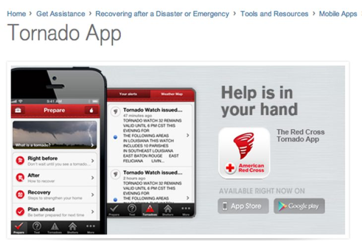 Tornado weather alert app increases survival
