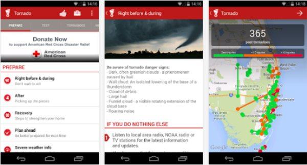 Tornado weather alert app