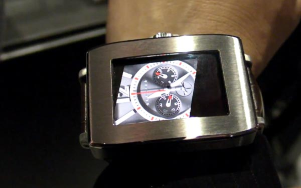 Toshiba OLED smart watches with user sensor