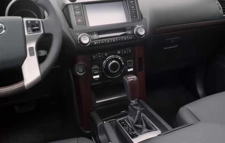 Interior of the new 2013 Toyota Landcruiser Prado.