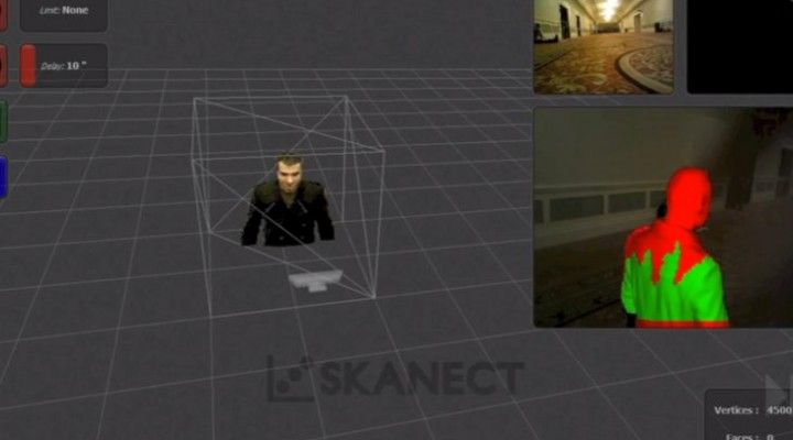 Transform Microsoft Kinect into a 3D scanner with Skanect