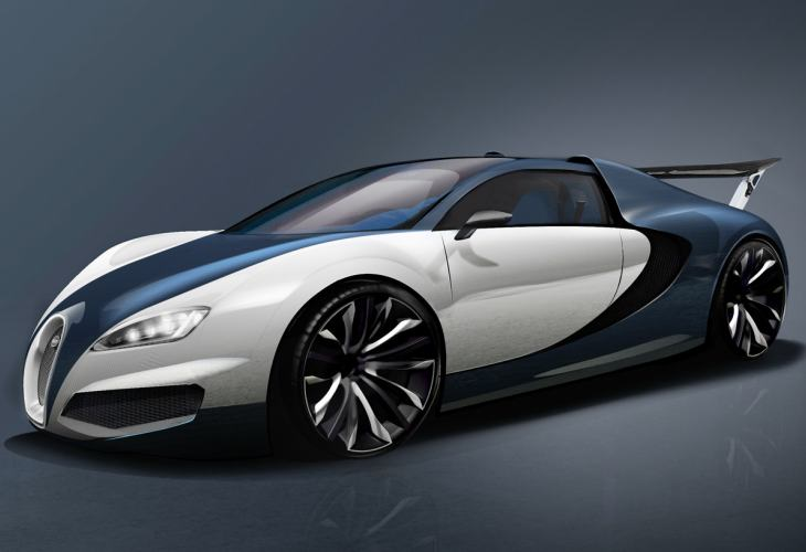 Trio of Bugatti Veyron successor development concepts